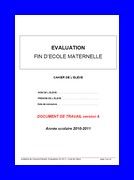 Evaluations grande section : Cahier de l'élève